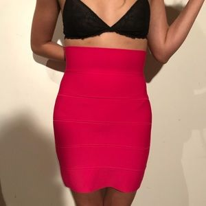 Pink bodycon skirt
